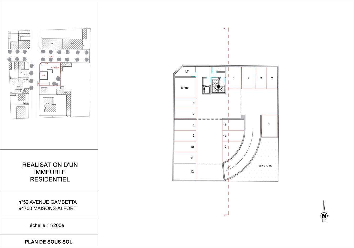 Plan parking sous sol dwg